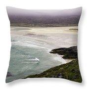 Seilebost Beach Throw Pillow