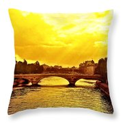 Seine View Throw Pillow