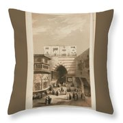 Selections From The Records Of The Bombay Throw Pillow
