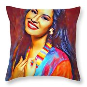Selena Queen Of Tejano  Throw Pillow