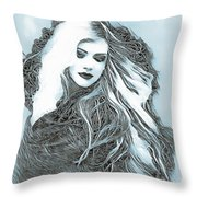 Selenium Blonde Throw Pillow