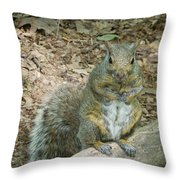 Self Appointed Greeter Throw Pillow