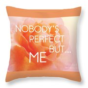 Self-love - Rose Flower Throw Pillow