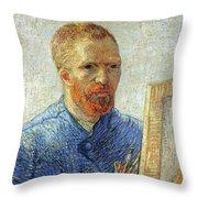 Self Portrait As An Artist Throw Pillow