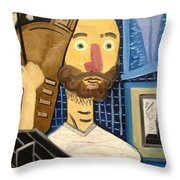 Self-portrait As Homage To Picasso Throw Pillow