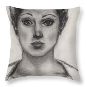 Self Portrait At Age 18 Throw Pillow