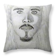 Self-portrait Drawing Throw Pillow