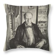 Self-portrait, First State By George Bellows 1882-1925 Throw Pillow