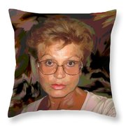 self portrait II Throw Pillow
