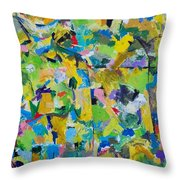 Self Portrait In The Woods Throw Pillow