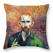 Self Portrait Throw Pillow by John  Nolan