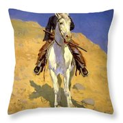 Self Portrait On A Horse 1890 Throw Pillow