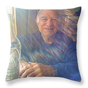 Self Portrait One - Light Through The Window Throw Pillow