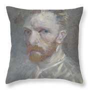 Self-portrait Paris, July   August 1887 Vincent Van Gogh 1853  1890 Throw Pillow