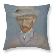 Self-portrait Paris  Summer 1887 Vincent Van Gogh 1853  1890 Throw Pillow