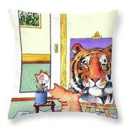 Self Portrait, Tiger Throw Pillow