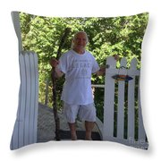 Self Portrait Two - After The Jungle Rescue In Costa Rica Throw Pillow