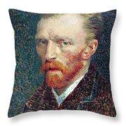 Self Portrait Vincent Van Gogh Throw Pillow