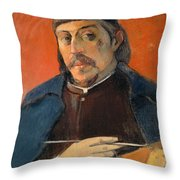 Self Portrait With A Palette Throw Pillow