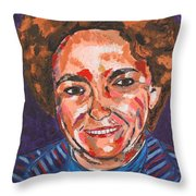 Self-portrait With Blue Jacket Throw Pillow
