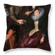 Self Portrait With Isabella Brandt, His First Wife, In The Honey Throw Pillow
