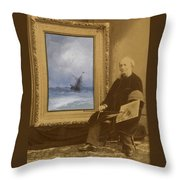 Self Portrait With Seascape Throw Pillow