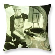 Self Portrait With Still Life Throw Pillow