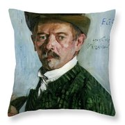 Self Portrait With Tyrolean Hat Throw Pillow