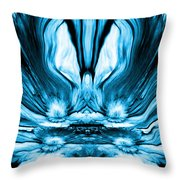 Self Reflection - Blue Throw Pillow