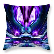 Self Reflection - Purple Blue Throw Pillow