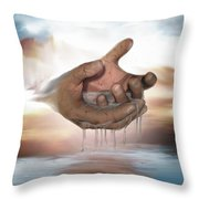 Self-replenishing Nature Throw Pillow