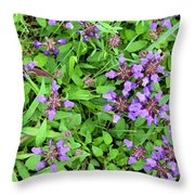 Selfheal In The Lawn Throw Pillow