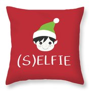 Selfie Elf- Art By Linda Woods Throw Pillow