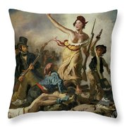 Selfie, Stupidity Leading The People Throw Pillow