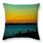 Selfie Sunset Throw Pillow