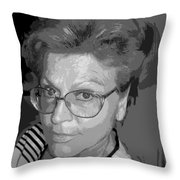 selfportrait III Throw Pillow