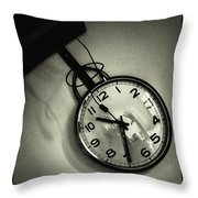 Selfportrait On A Clock Throw Pillow