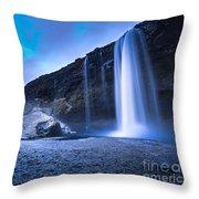 Seljalandsfoss Iceland Throw Pillow