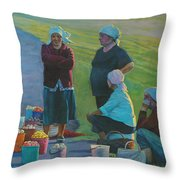 Sellers Of Apples Throw Pillow