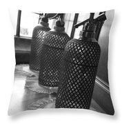 Seltzer Bottles Throw Pillow