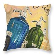 Seltzer Bottles Throw Pillow