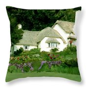 Selworthy Green Throw Pillow