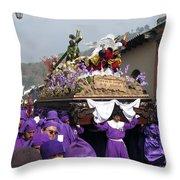 Semana Santa Procession V Throw Pillow