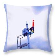 Semaphore Signal Throw Pillow