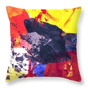 Semi-abstract Collage Throw Pillow