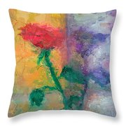 Semi Abstract Flowers#1 Throw Pillow