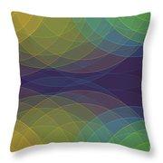 Semi Circle Background Horizontal Throw Pillow