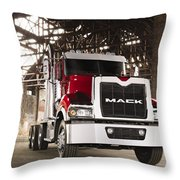 Semi Throw Pillow