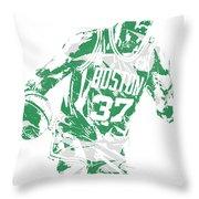 Semi Ojeleye Boston Celtics Pixel Art 2 Throw Pillow
