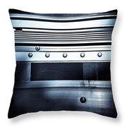 Semi Truck Monocromatico Throw Pillow